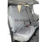 Nissan Primastar crew cab (old shape up to 2014) van seat covers waterproof grey